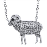 ASPCA® Tender Voices™ 1/5 CT. T.W. Diamond Sheep Necklace
