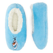 Disney Frozen Snowflake Fuzzy Slippers - Girls
