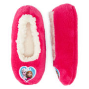 Disney Frozen Elsa and Anna Fuzzy Slippers - Girls