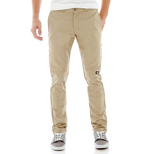 Dickies® Skinny Fit Straight Leg Double Knee Workpant