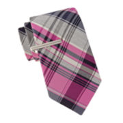JF J. Ferrar® Bridgewater Plaid Tie