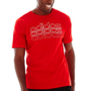 adidas® Striped Graphic Tee