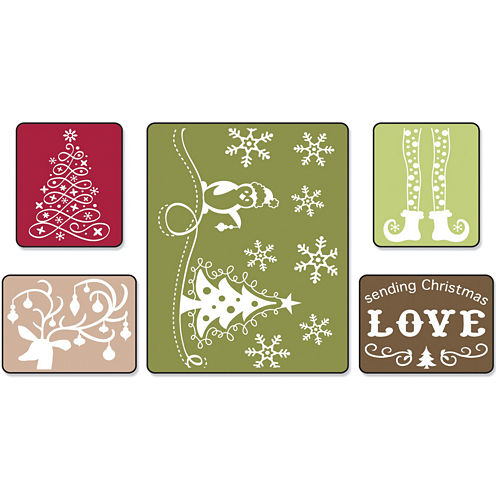 Sizzix® Textured Impressions Embossing Folders-Sending Christmas Love