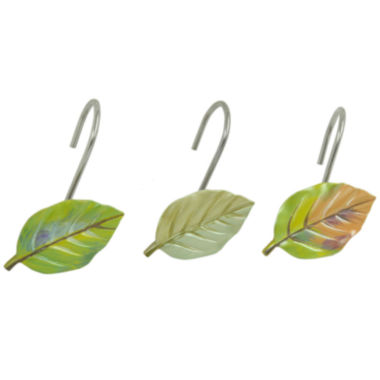 jcpenney.com | Bacova Waterfall Leaves Shower Curtain Hooks
