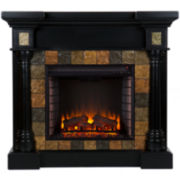 Serena Faux Slate Convertible Electric Fireplace