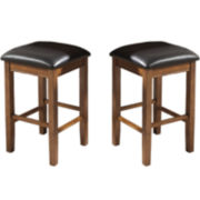 Kennedale Set of 2 Counter-Height Backless Barstools
