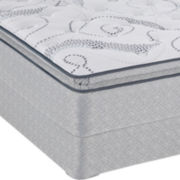 Sealy® Paulson Plush Euro Pillow-Top Mattress plus Box Spring