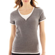 Made For Life™ Short-Sleeve Layered Y-Neck Tee