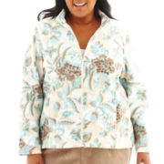 Alfred Dunner® Grand Canyon Embroidered Fleece Jacket - Plus