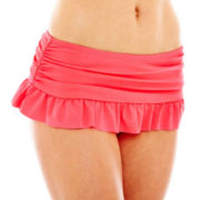Arizona Solid Skirtini Swim Bottoms - Juniors