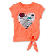 Arizona Short-Sleeve Tie-Front Tee - Girls 2t-5t