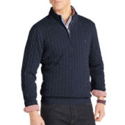IZOD® Quarter-Zip Cable Sweater