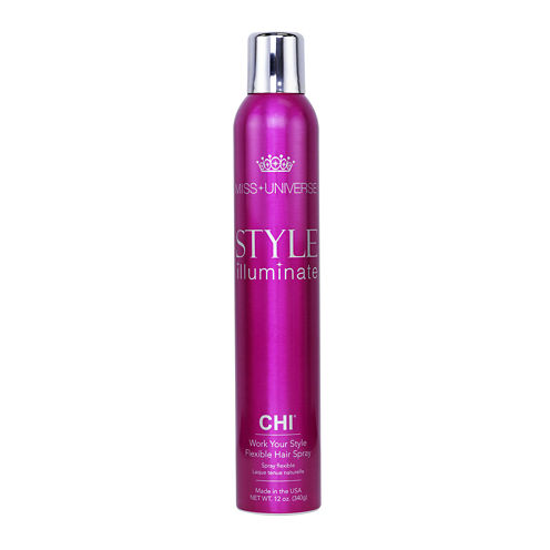 Miss Universe Style Illuminate by CHI® Work Your Style Flex Hair Spray - 12 oz.