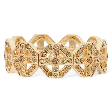 jcpenney.com | Monet® Brown Crystal Gold-Tone Stretch Bracelet