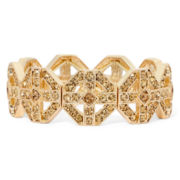 Monet® Brown Crystal Gold-Tone Stretch Bracelet