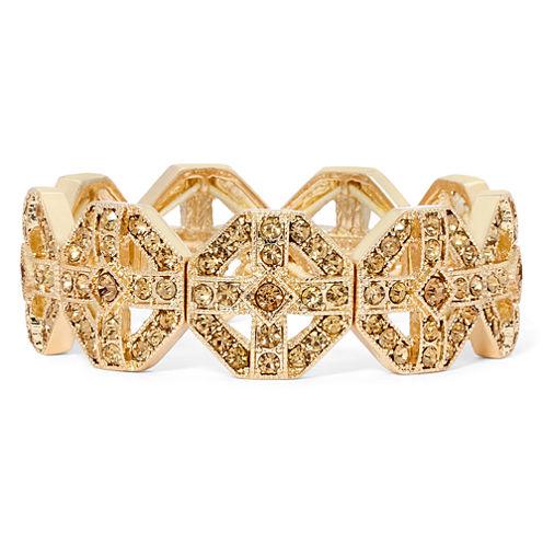 Monet® Brown Crystal Gold-Tone Stretch Bracelet