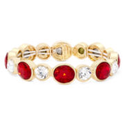Monet® Red Crystal Gold Stretch Bracelet