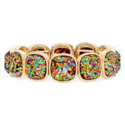 Liz Claiborne® Multicolor Stretch Bracelet