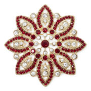 Monet® Red Poinsettia Pin