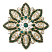 Monet® Green Poinsettia Pin