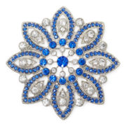 Monet® Blue Poinsettia Pin