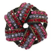 Monet® Red Crystal Knot Pin