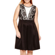 R&K Originals® Sleeveless Lace Fit-and-Flare Dress - Plus