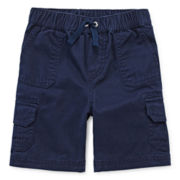 Arizona Solid Cargo Shorts - Toddler Boys 2t-5t