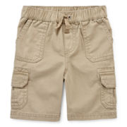 Arizona Khaki Cargo Shorts - Toddler Boys 2t-5t