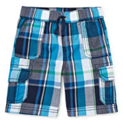 Arizona Plaid Cargo Shorts - Toddler Boys 2t-5t