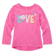 Okie Dokie® Long-Sleeve High-Low Tee - Preschool Girls 4-6x