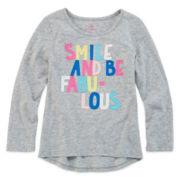 Okie Dokie® Long-Sleeve High-Low Tee - Preschool Girls 4-6x