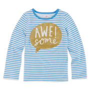 Okie Dokie® Long-Sleeve Graphic Tee - Preschool Girls 4-6x