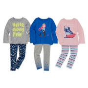 Okie Dokie® Graphic Tee, High-Low Tee or Printed Leggings - Preschool Girls 4-6x