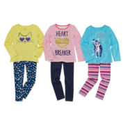 Okie Dokie® Graphic Tee, Denim Leggings or Printed Leggings - Preschool Girls 4-6x