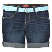Arizona Denim Midi Shorts - Girls 7-16, Slim and Plus