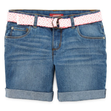 jcpenney.com | Arizona Mid Thigh Denim Shorts - Girls 7-16, Slim and Plus