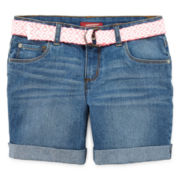 Arizona Mid Thigh Denim Shorts - Girls 7-16, Slim and Plus