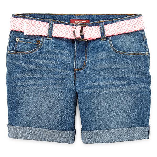 Arizona Mid Thigh Denim Shorts - Girls 7-16, Slim and Plus - JCPenney