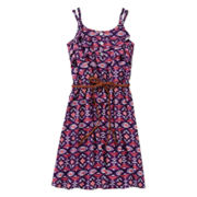 Kandy Kiss Belted Ruffle Skater Dress - Girls 7-16