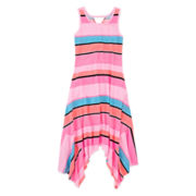 Total Girl® Shark Bite-Hem Maxi Dress - Girls 7-16