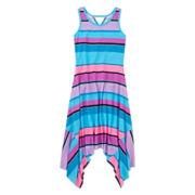 Total Girl® Shark Bite-Hem Maxi Dress - Girls 7-16
