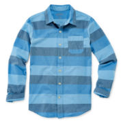 Arizona Button-Front Woven Shirt - Boys 8-20 and Husky
