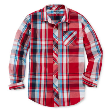 jcpenney.com | Arizona Button-Front Woven Shirt - Boys 8-20 and Husky