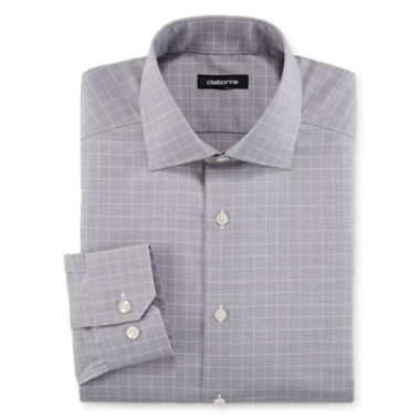 jcpenney.com | Claiborne® Wrinkle-Free End-On-End Dress Shirt