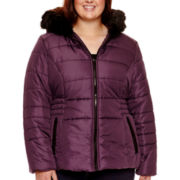 Celebrity Pink Faux-Fur Hooded Puffer Jacket - Plus