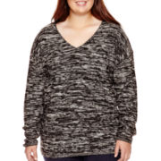 Arizona Long-Sleeve Marled Tunic - Juniors Plus