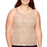 Arizona Sleeveless Sequin Top - Plus