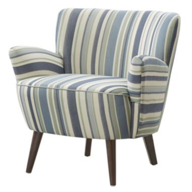 jcpenney.com | Laura Curvy Plush Striped Chair