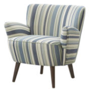 Laura Curvy Plush Striped Chair